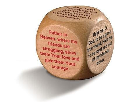 Wooden Prayer Cube - Friendship Prayers-Prayer Cube-Serenity Gifts