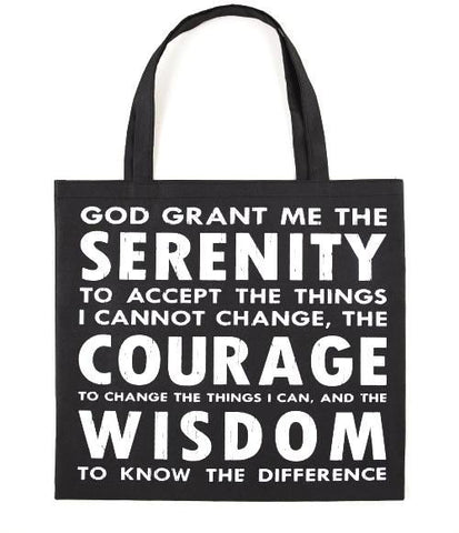 Black Tote Bag Shopper - Serenity Verse-Journal-Serenity Gifts