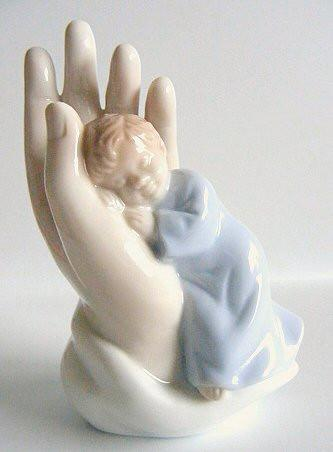 Ceramic Safe in God's Hands - Boy-Baptism & Christening-Serenity Gifts
