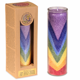 Chakra Candle Rainbow Valley in Glass Holder - Essential Oils Scented-Chakra Gifts-Serenity Gifts