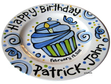 Load image into Gallery viewer, Fun happy birthday personalized Plate custom ceramic by Artzfolk