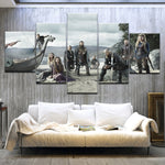 5 Piece HD Printed TV Series Vikings Poster Modern Home Wall Decor Print On Canvas Art Painting For home living room