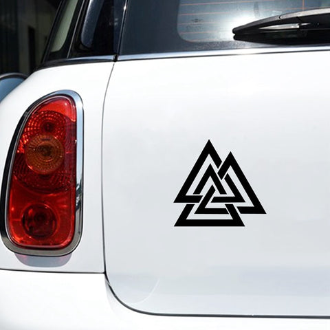 Valknut Vinyl Car Decal
