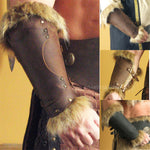 Genuine Fur Bracers