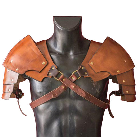 Leather, Warrior Pauldrons