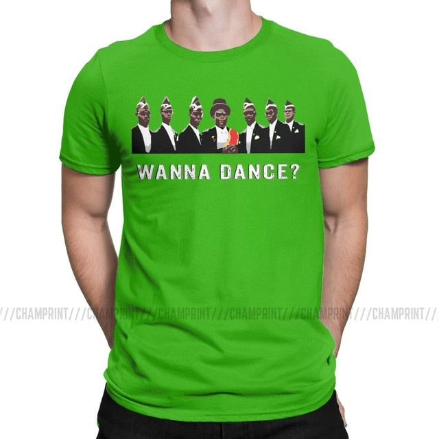 Ghana Funeral Dance Team T-Shirts Men Coffin Dance T Shirt 2020 Funny Meme Funeral Dance Ghana Dancing Pallbearers Clothing