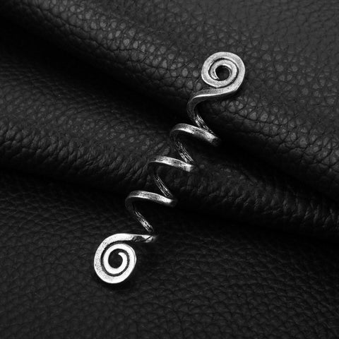 Norse Spiral Charms Beads for Hair