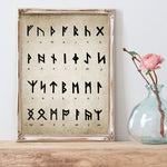 Runic Alphabet Divination Canvas