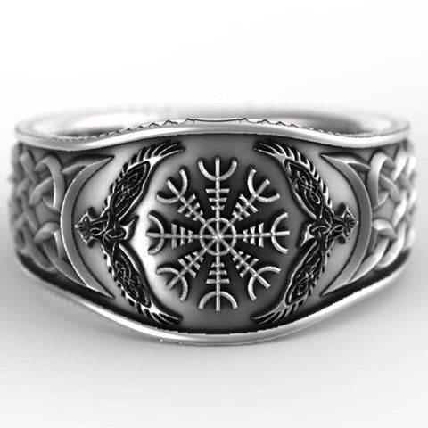 2020 New Nordic Viking Compass Ring