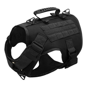 Tactical Dog Harness Pet Military Training Dog Vest German Shepherd Dog Harness Molle Vest For Medium Large Dogs
