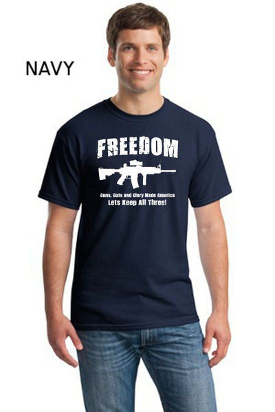 Ar15 Freedom Guns Guts Glory Political Tees
