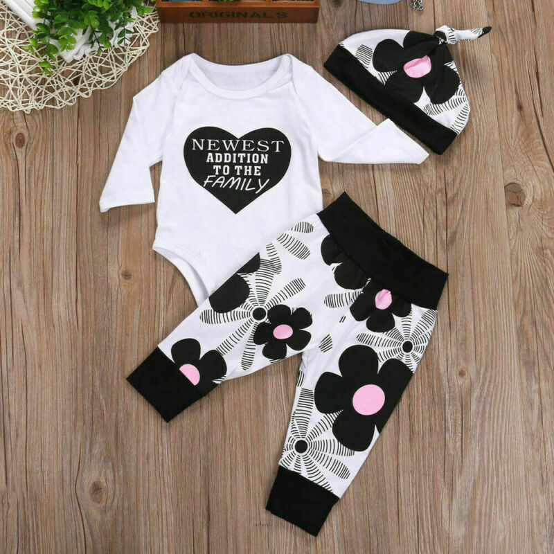 Newborn Baby Letter Printed Clothes - 27orLess