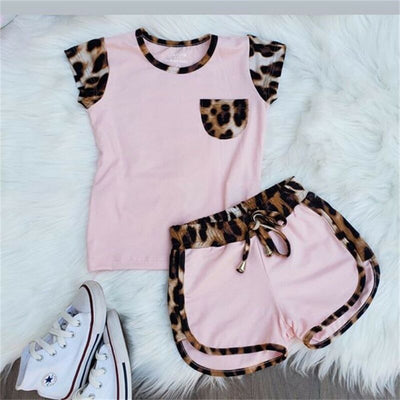Short Sleeve Leopard Tops - 27orLess