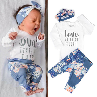 Newborn Baby Long Sleeve Clothes - 27orLess