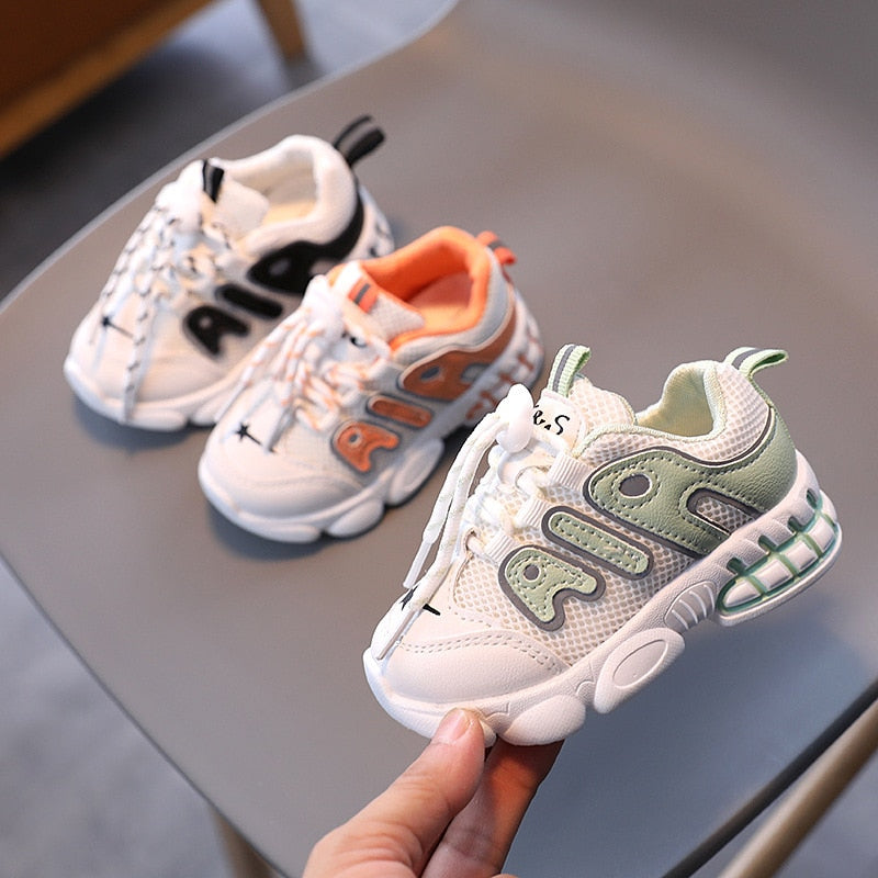 2020 Autumn New Boys Girls 1-5 years old tide kids shoes soft bottom Fashion Breathable Sneakers Non-slip Toddler Running Shoes - 27orLess