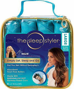 The Sleep Styler Heat Curlers Includes 8 Large 6 Inch Rollers Soft G4