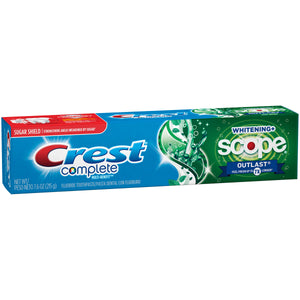 Crest Complete Whitening + Scope Outlast Mint Toothpaste 7.6 oz.