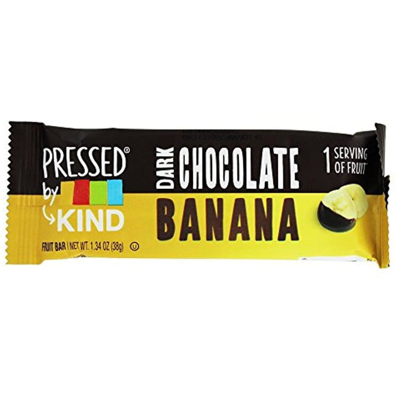 Kind Pressed Bar,dark Chocolate Banana  - Pack of 8 - Past Rotation Date - Guaranteed Freshness