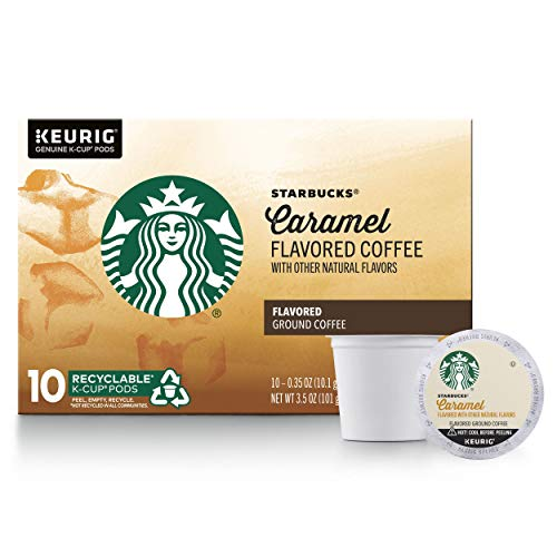 Starbucks Flavored K-Cup Coffee Pods — Caramel for Keurig Brewer - Past Rotation Date - Guaranteed Freshness — 1 box (10 pods)