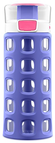 Ello Dash Kids Tritan Plastic Water with Silicone Sleeve, 16 oz, Malibu Blue - Like New
