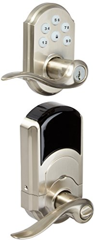 Kwikset Z-Wave SmartCode Satin Nickel Electronic Tustin Lever Featuring SmartKey - Like New But Missing Keys