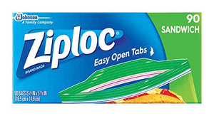 Ziploc S C Johnson Wax 71147 Sandwich Bags, 90-Ct - Quantity 12