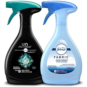 Febreze Fabric Refresher, Odor Eliminator Extra Strength + Unstopables, Fresh Scent, 2 Count