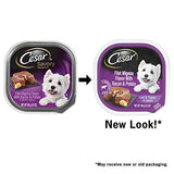 CESAR Soft Wet Dog Food Loaf & Topper in Sauce Filey Mignon Flavor with Bacon & Potato, 3.5 oz. Easy Peel Tray