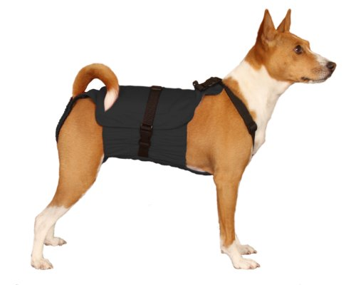 Dog Diaper Wrap MEDIUM BLACK