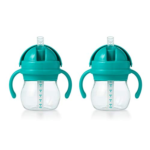 OXO Tot Transitions Straw Cup With Handles 6 oz - Teal - 2 Pack