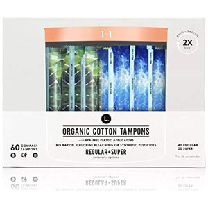 L. Organic Cotton Regular + Super Multipack Tampons - 60ct