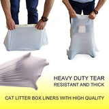 Cat Litter Box Liners with Drawstring Bag Heavy Duty Jumbo-Super Strong and Thick for Cats - 3 Pack (15 Liners)