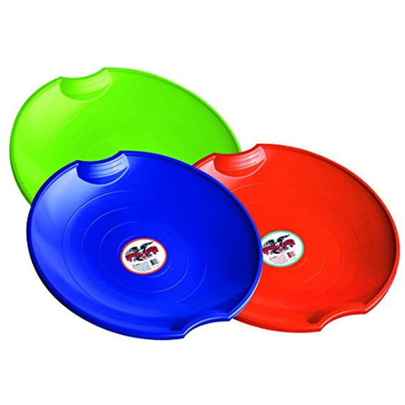 Flexible Flyer 3-pack Snow Saucer Sleds. Round Sand Slider Disc Toy