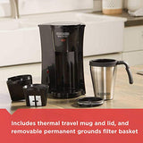 BLACK+DECKER DCM18S Coffeemaker, 1, Black/Stainless Steel - Like New