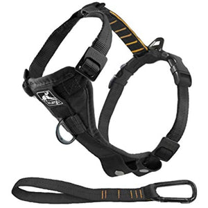 Kurgo Dog Harness | Pet Walking Harness | Large | Black | No Pull Harness Front Clip Feature for Training Included | Car Seat Belt | Tru-Fit Quick Release Style