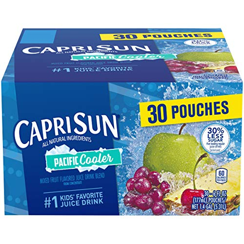 Capri Sun Pacific Cooler Ready-to-Drink Juice (30 Pouches, 3 Boxes of 10)