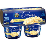 Kraft Deluxe Easy Mac White Cheddar Macaroni and Cheese (4 Microwaveable Cups)