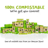 Compostable Dog Poop Bag, Biodegradable Poop Bags for Dogs, Extra-Long with Handles. Plant-Based Unscented Thick Leak-Proof Pet Waste Bag Refills. Highest ASTM D6400. Pet Supplies Support Doggy Rescue