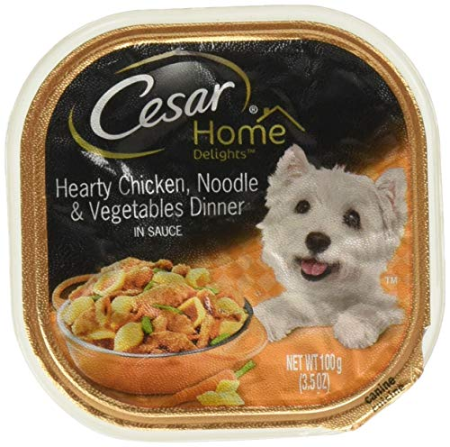 Cesar Home Delights Canine Cuisine Hearty Chicken, Noodle & Vegetable Dinner in Sauce