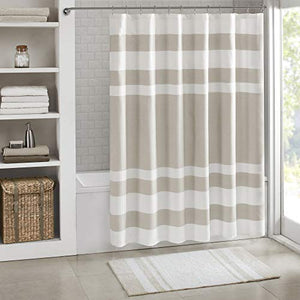 Madison Park Spa Waffle Shower Curtain, Tall 72x84, Taupe - Opened package Like new