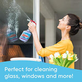 Windex Ammonia-Free Glass and Window Cleaner Spray Bottle, Bottle Made from 100% Recycled Plastic, Crystal Rain Scent, 23 Fl Oz