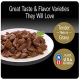 CESAR HOME DELIGHTS Soft Wet Dog Food Grilled New York Strip Flavor with Vegetables in Sauce, 3.5 oz. Easy Peel Tray