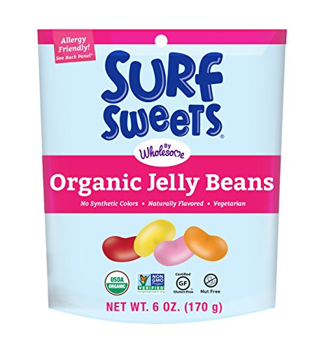 Surf Sweets Organic Jelly Beans, 6 oz  - Past Rotation Date - Guaranteed Freshness