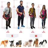 LUMAR Pet Sling Carrier for Dogs Two Size Adjustable M:6-13 Lbs The Only One Adapted Also for Car Seatbelt Connecting Safety a Toy for Traveling with The Small and Medium Dog
