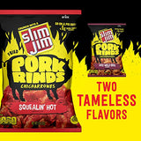 Slim Jim Pork Rinds Squealin' Hot Fried Snacks, Keto Friendly, 2 oz. Bag 12-Count (just past rotation date) Guaranteed Fresh