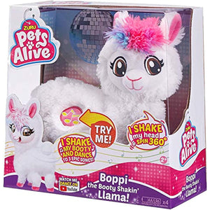 Zuru Pets Alive Boppi the Booty Shakin Llama Stuffed Animal Toy - Purple