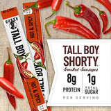 Duke's Hot & Spicy Tall Boy Smoked Shorty Sausage, Keto Friendly, 1 oz. 24-Count