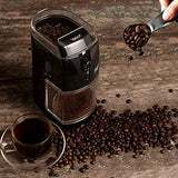 Secura Electric Burr Coffee Grinder Mill, Adjustable Cup Size, 17 Fine to Coarse Grind Size Settings for Drip, Percolator, French Press and Turkish Coffee Makers, Black Onyx