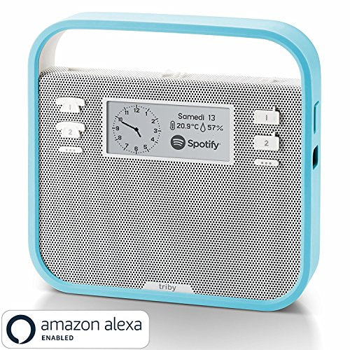 Invoxia Smart Portable Speaker with Amazon Alexa, Blue