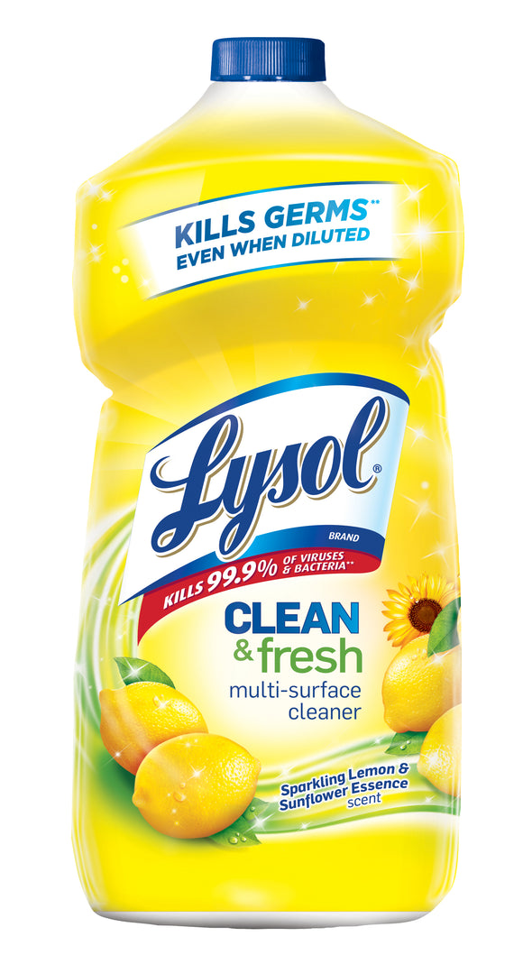 Lysol Clean & Fresh Multi-Surface Cleaner, Lemon & Sunflower, 40 Ounce (Pack of 1)